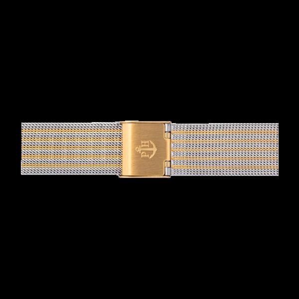 Uhrenarmband Mesh Bicolor IP Gold / Edelstahl 16mm