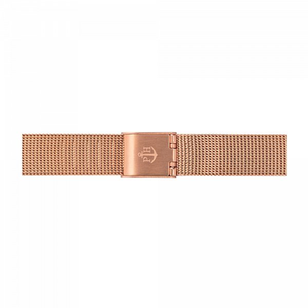 Uhrenarmband Mesh IP Roségold 12mm