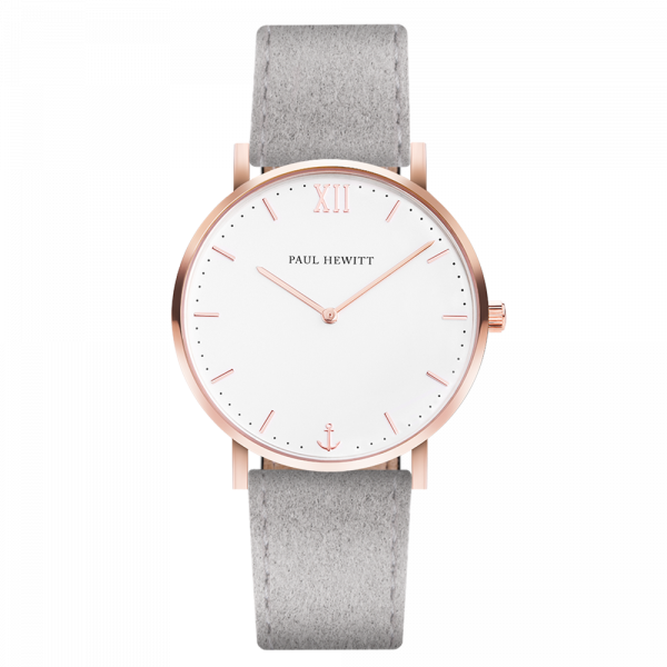 Montre Sailor White Sand Or Rose Alcantara Gris