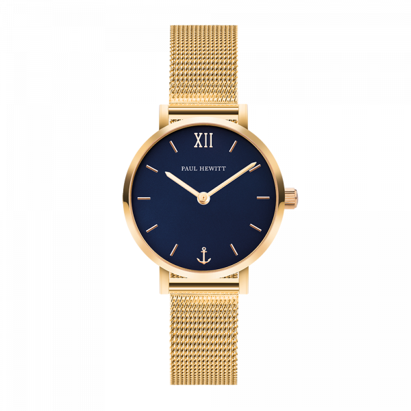 Montre Modest Blue Lagoon Or Mesh