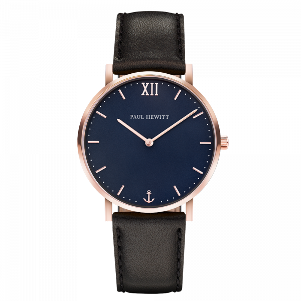 Watch Sailor Blue Lagoon Rose Gold Leather Black