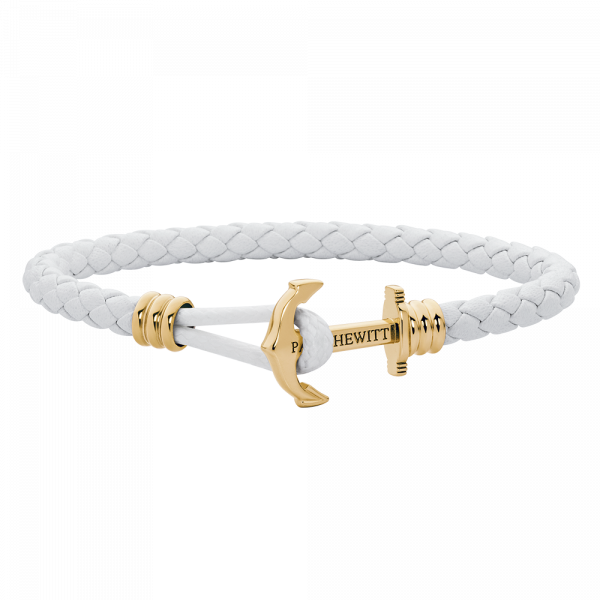 Ankerarmband PHREP Lite IP Gold Weiß