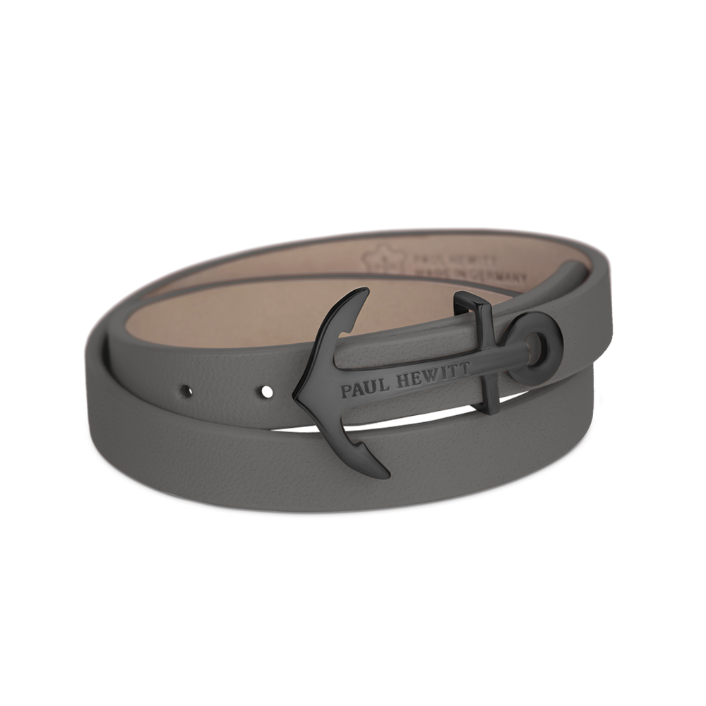 Wrap Bracelet NORTH BOUND IP Black Grey