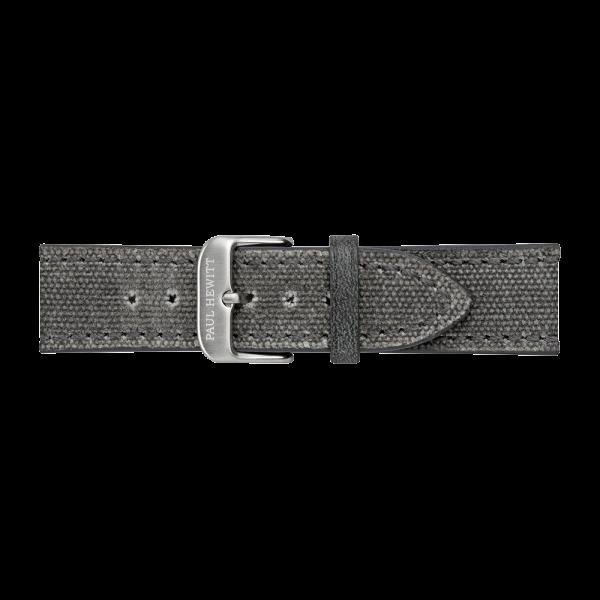 Uhrenarmband Canvas Edelstahl Grau 20mm