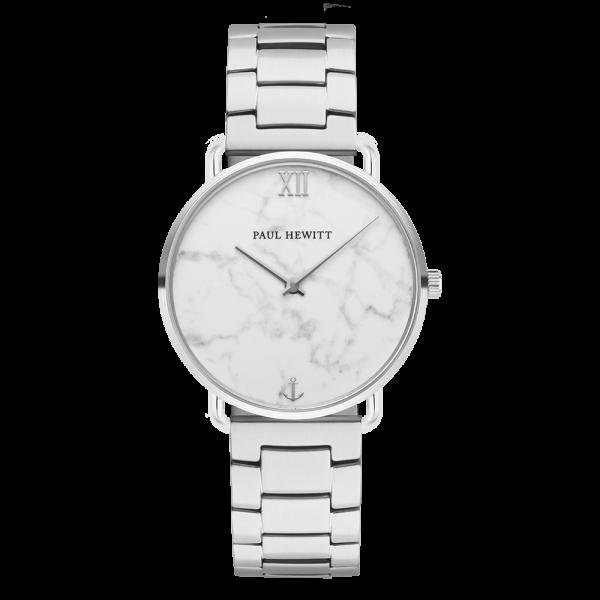Uhr Miss Ocean Marble Silber Metall