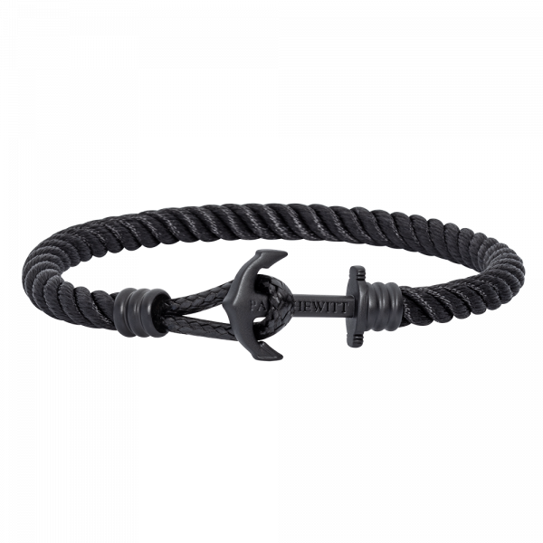 Ankerarmband PHREP Lite IP Schwarz Nylon Schwarz