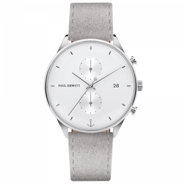 Watch Chrono White Sand Silver Alcantara Grey