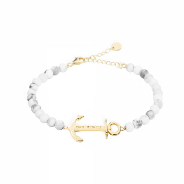 Armkette Anchor Spirit Marble IP Gold