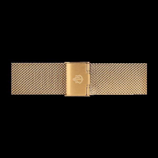 Uhrenarmband Mesh IP Gold 20mm