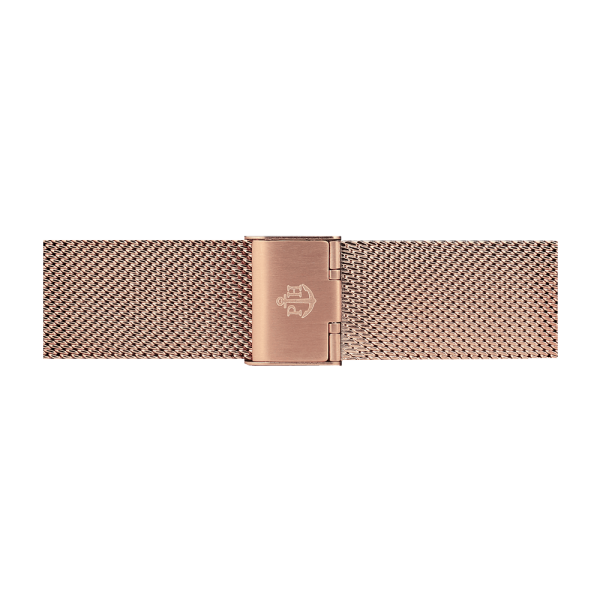 Uhrenarmband Mesh IP Roségold 20mm