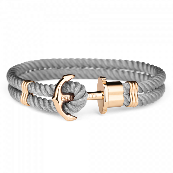 Ankerarmband PHREP IP Gold Nylon Grau