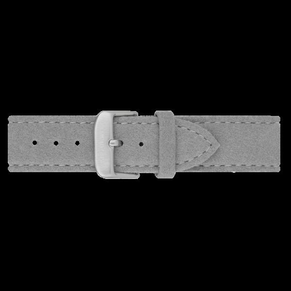 Uhrenarmband Edelstahl Alcantara Grau 20mm