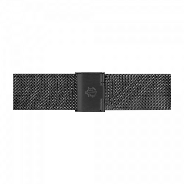 Uhrenarmband Mesh Schwarz 20 mm