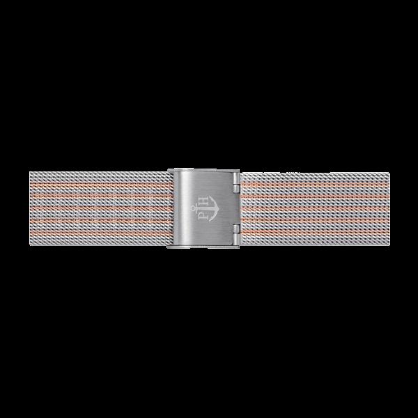 Uhrenarmband Mesh Bicolor Roségold Silber 16 mm