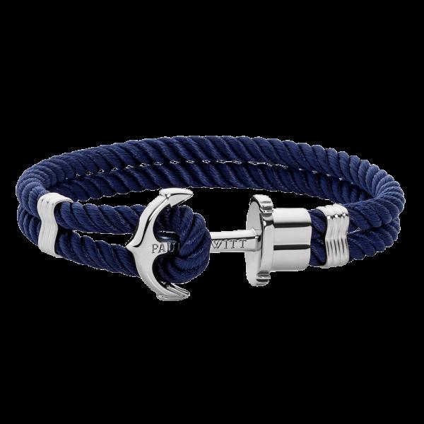 Anchor Bracelet PHREP Stainless Steel Nylon Navy Blue