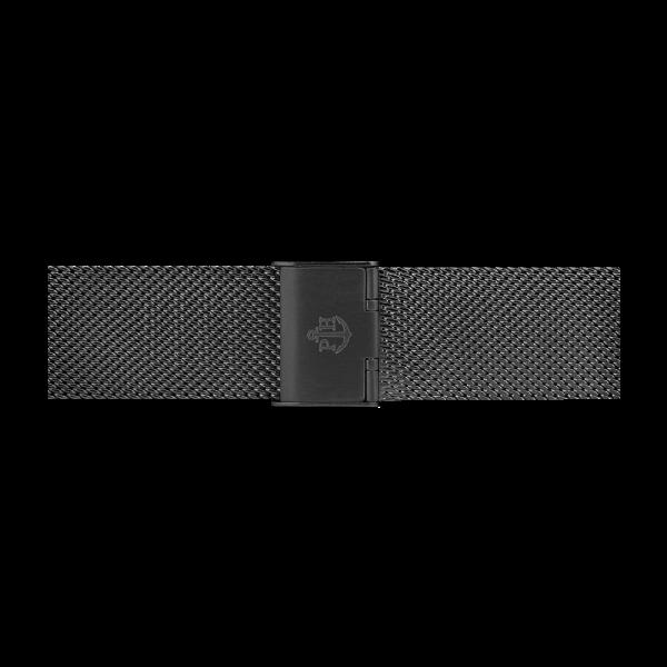 Uhrenarmband Mesh IP Schwarz 20mm