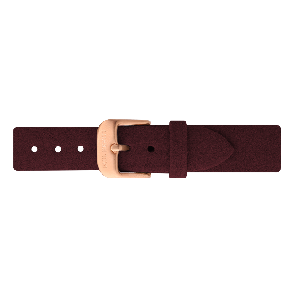 uhrenarmband ip ros gold alcantara dark berry 16mm paul. Black Bedroom Furniture Sets. Home Design Ideas