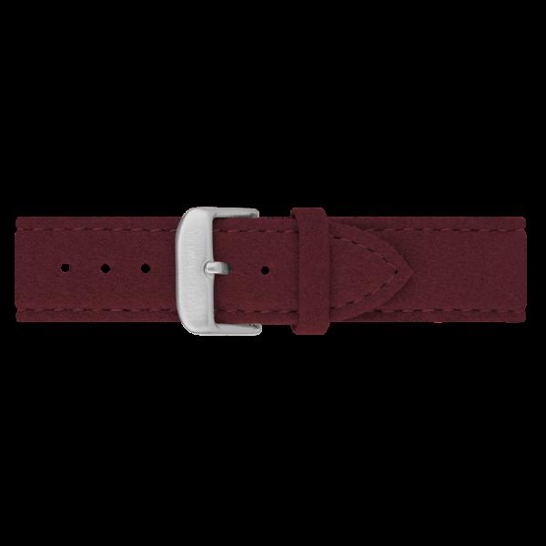 Uhrenarmband Edelstahl Alcantara Dark Berry 20mm