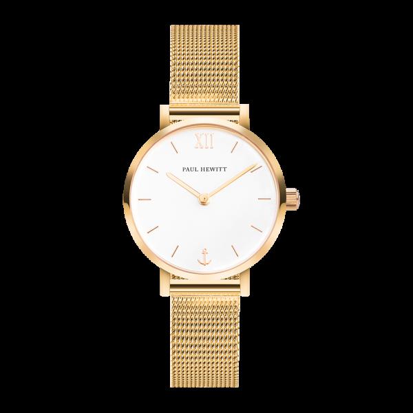 Uhr Sailor Line Modest White Sand IP Gold Meshband IP Gold
