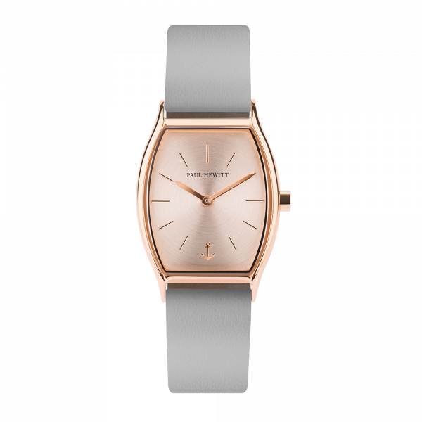 Watch Modern Edge Rose Sunray Rose Gold Leather Graphite