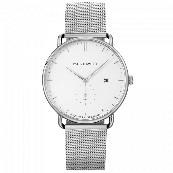 Watch Grand Atlantic Line White Sand Stainless Steel Mesh Strap