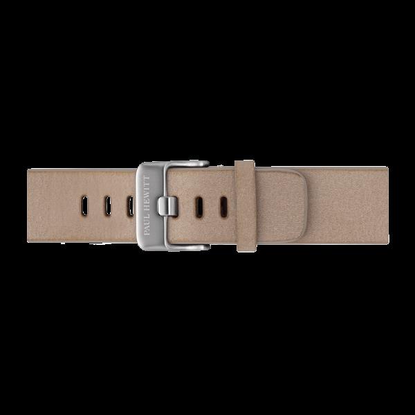 Cinturino Pelle Argentato Sandstone 20 mm