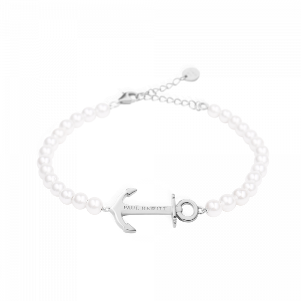 Bracelet Anchor Spirit Silver Pearl