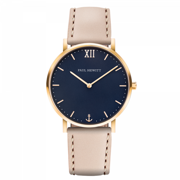 Uhr Sailor Blue Lagoon Gold Leder Hazelnut