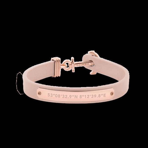 Ankerarmband Signum Koordinaten IP Roségold Nude