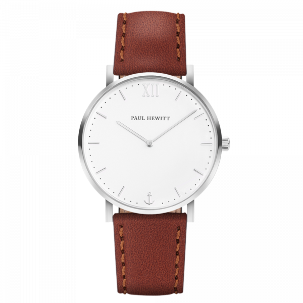 Watch Sailor White Sand Silver Leather Brown