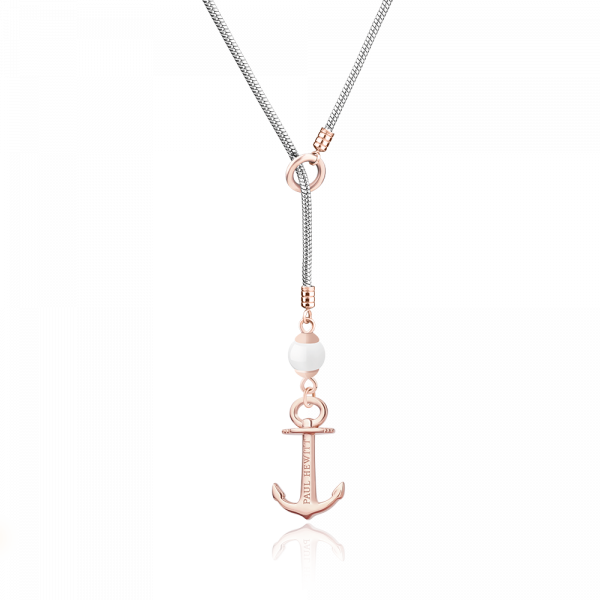 Halskette Anchor Pearl Roségold Silber