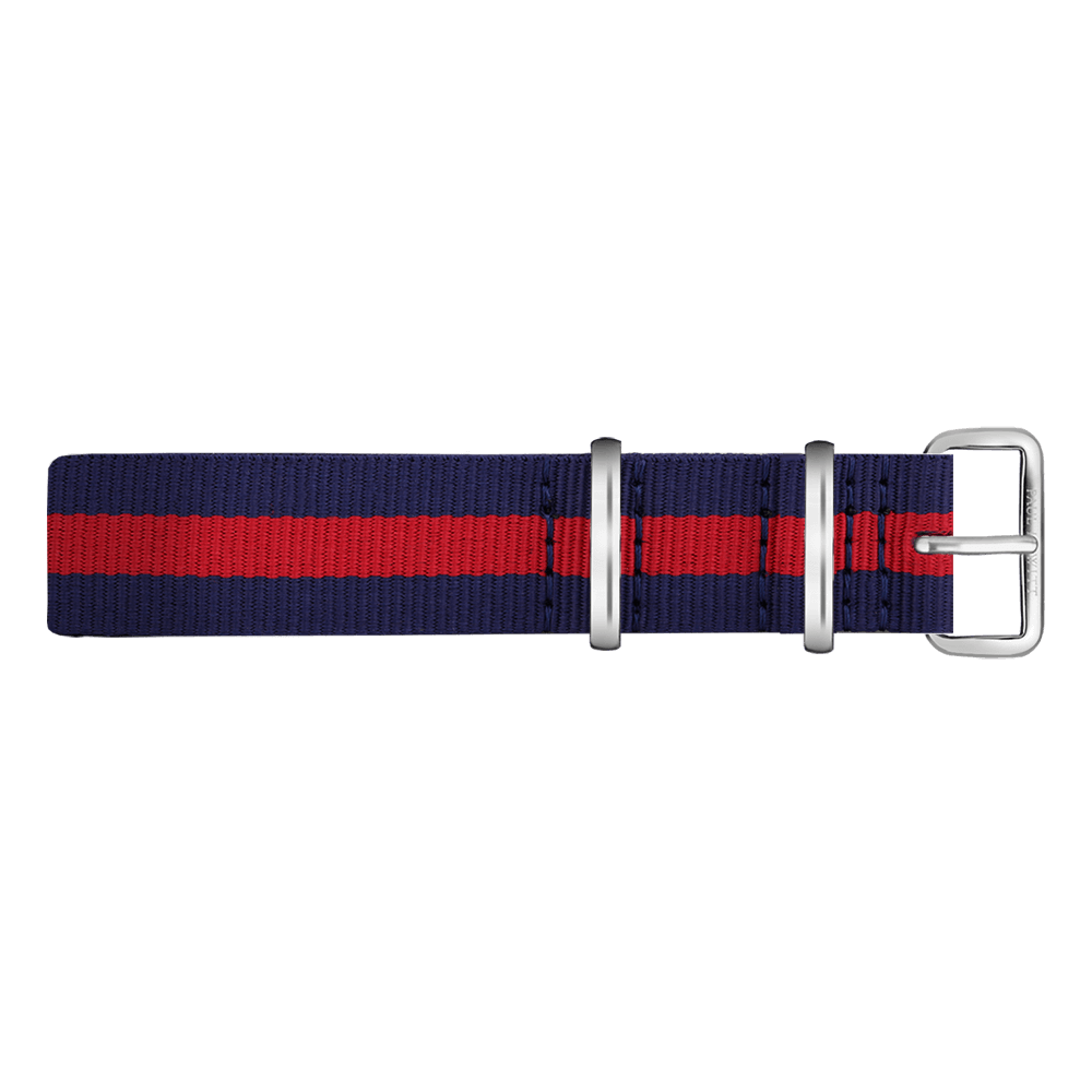 Watchstrap Stainless Steel Nato Strap Navy Blue-Red