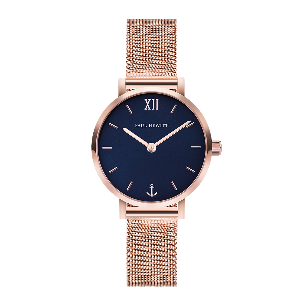 Watch Sailor Line Modest Blue Lagoon IP Rose Gold Mesh Strap IP Rose Gold