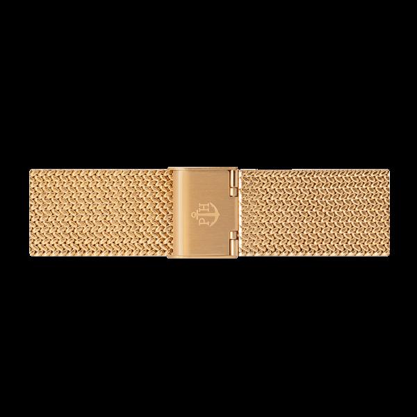 Uhrenarmband Mesh Woven Gold 20 mm