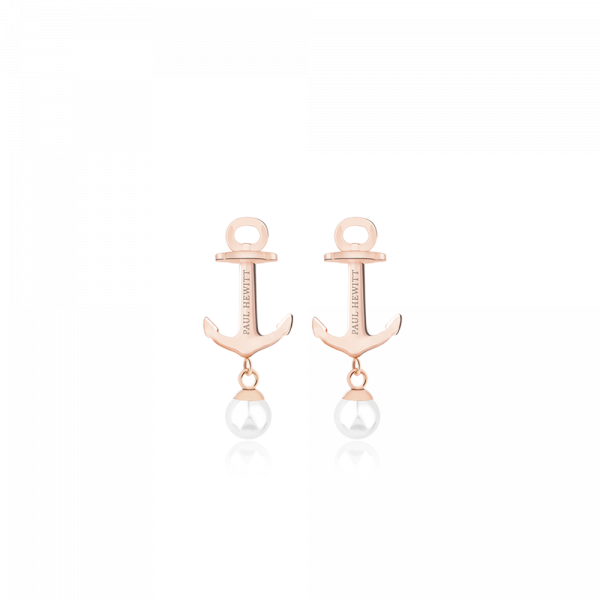 Earring Anchor Pearl Rose Gold Pearl