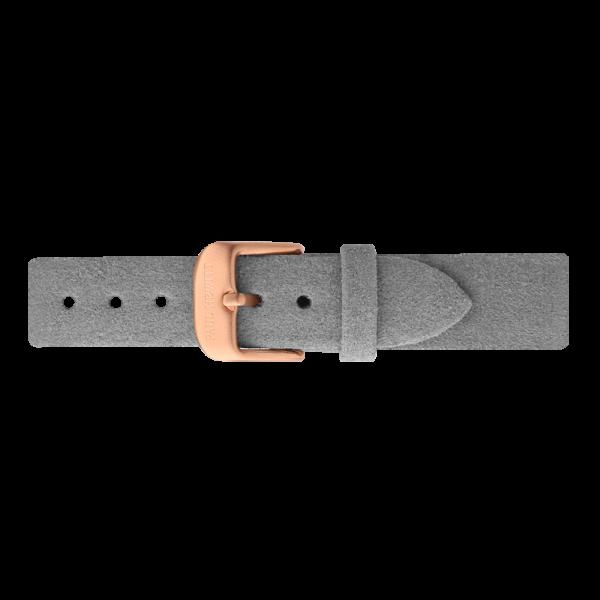 Bracelet de Montre Alcantara Or Rose Gris 16 mm