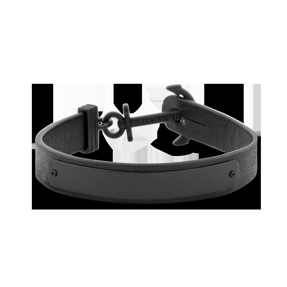 f6d1373c0b PAUL HEWITT | Anchor Bracelet Signum Engraving IP Black Black