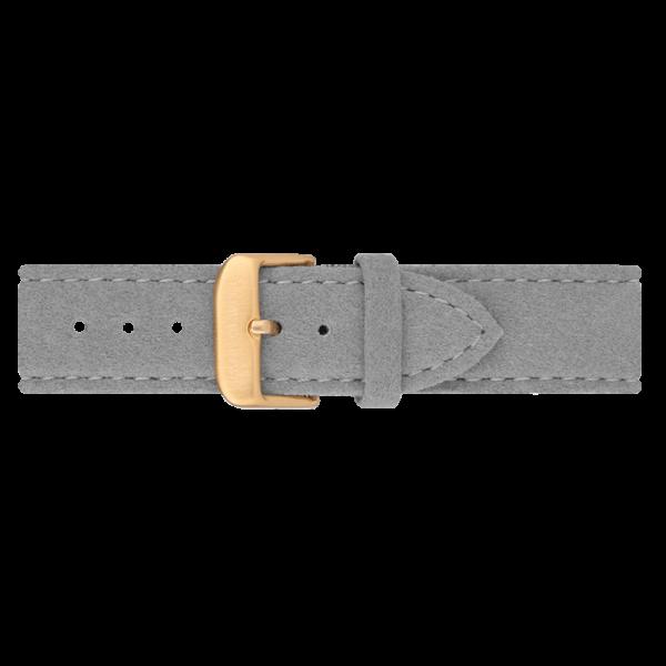 Watch Strap Alcantara Gold Grey 20 mm