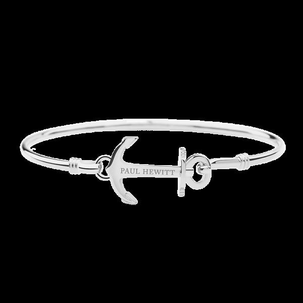 Bracelet Jonc Anchor Cuff Argenté