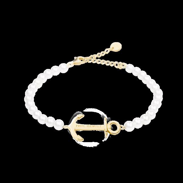 Armkette Anchor Spirit Pearl IP Gold