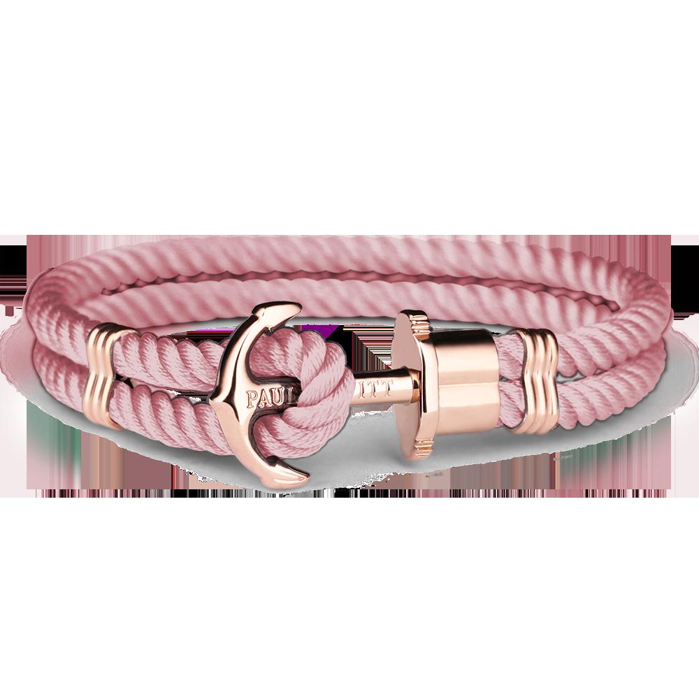 Anchor Bracelet PHREP IP Rose Gold Nylon Aurora