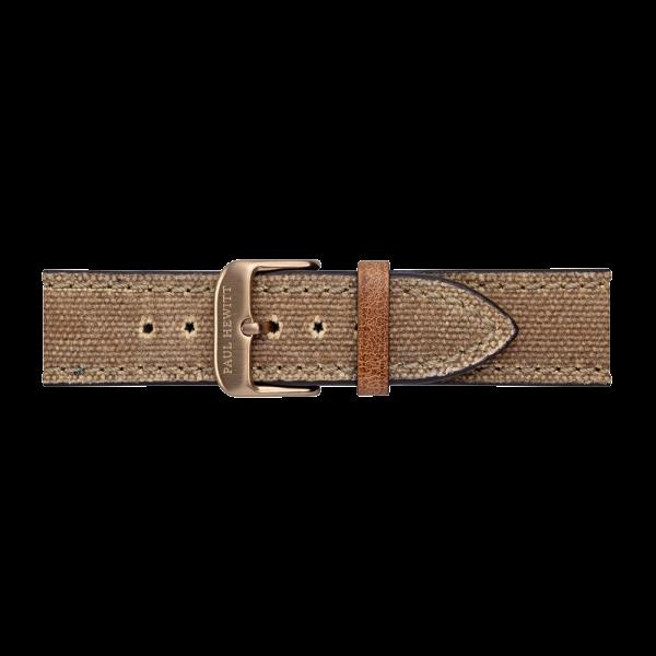 Uhrenarmband Canvas IP Bronze Desert 20mm