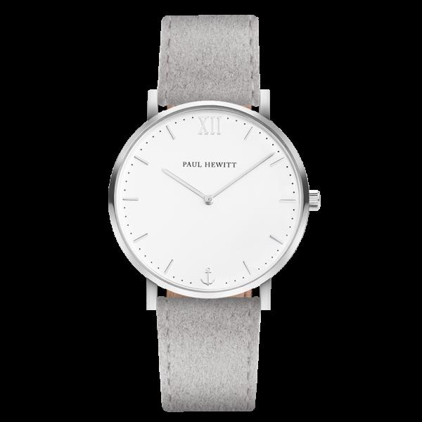 Watch Sailor White Sand Silver Alcantara Grey