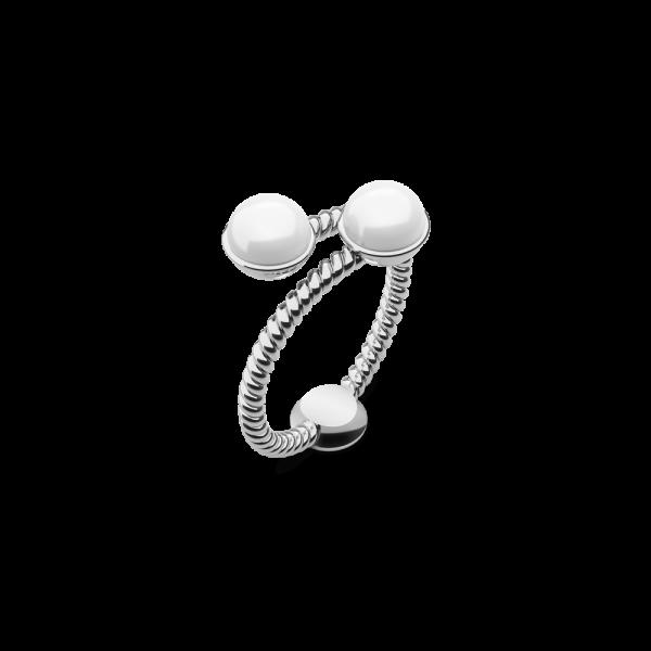 Ring Rope Pearl Edelstahl