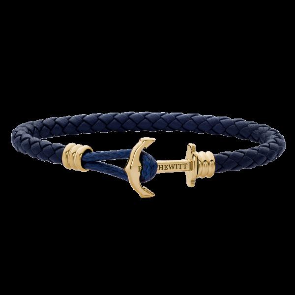 Ankerarmband PHREP Lite IP Gold Marineblau