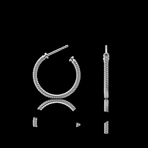 Ohrstecker Rope Hoop Silber