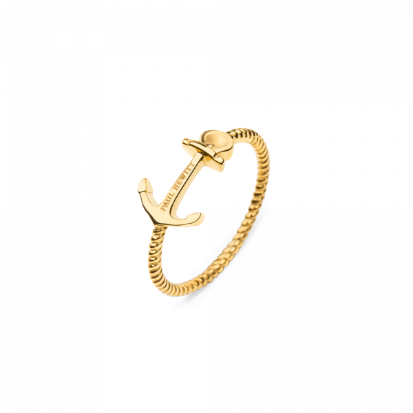 Ring Anchor Rope Gold