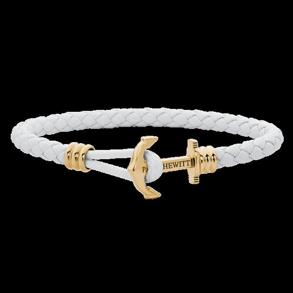 Anchor Bracelet Phrep Lite Gold Leather White