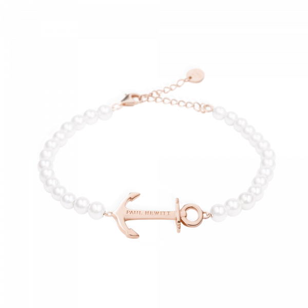 Bracelet Anchor Spirit Rose Gold Pearl