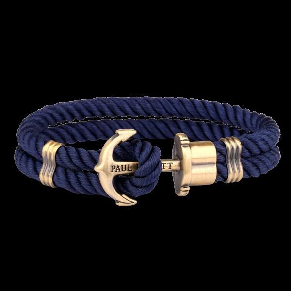Ankerarmband PHREP Messing Nylon Marineblau